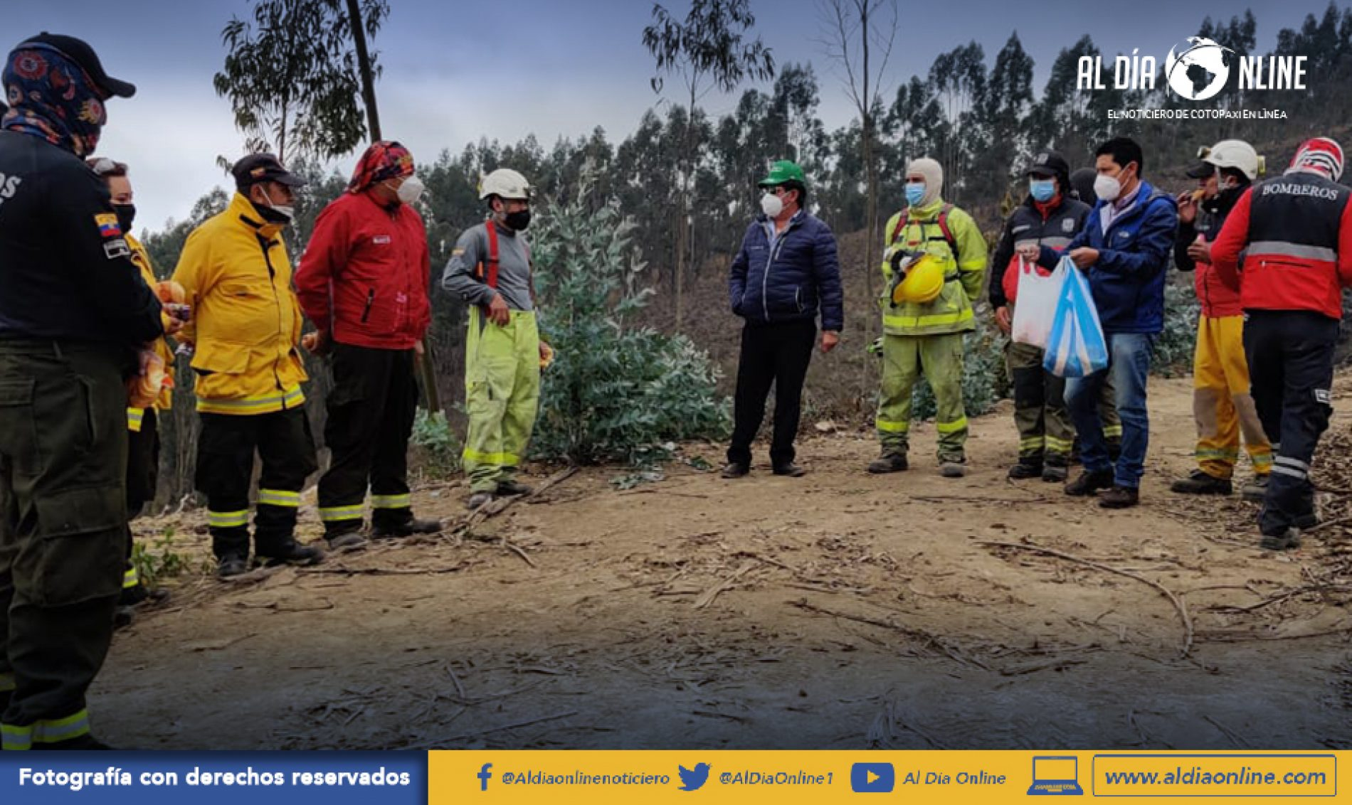 PRESIDENTE DE MULALILLO INFORMÓ SOBRE INCENDIO FORESTAL REGISTRADO EN SAN LUIS. (VIDEO)